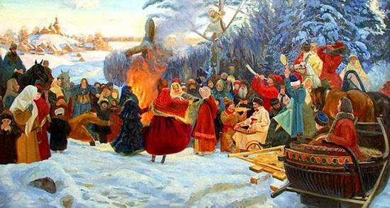 Семён Кожин. Масленица. Проводы зимы. 2001г.